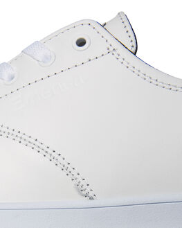 WHITE BLACK MENS FOOTWEAR EMERICA SKATE SHOES - 6102000089110