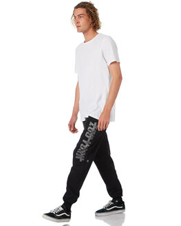 BLACK MENS CLOTHING ZOO YORK PANTS - ZY-MPB8100BLK