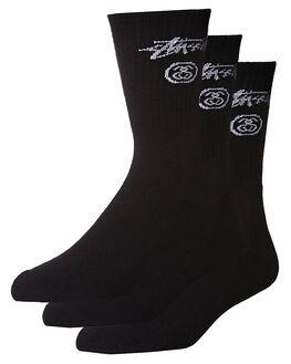 BLACK MENS CLOTHING STUSSY SOCKS + UNDERWEAR - ST743034BLK