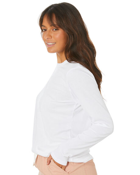 WHITE WOMENS CLOTHING NUDE LUCY TEES - NU23190WHT