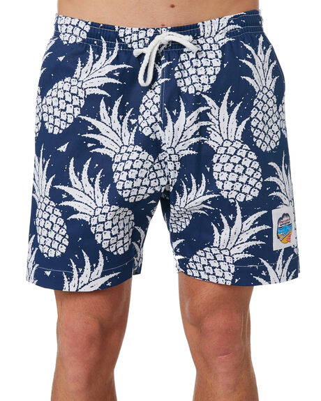 NAVY MENS CLOTHING OKANUI BOARDSHORTS - OKSOPNNVNVY
