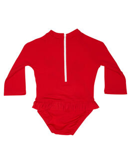 RED ROLLER SKATE BOARDSPORTS SURF SPEEDO GIRLS - 7732D-7611MUL