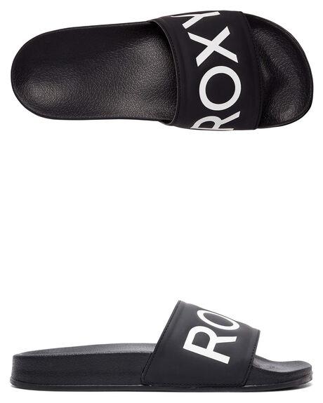 BLACK FG WOMENS FOOTWEAR ROXY SLIDES - ARJL100679-BFG
