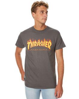 CHARCOAL MENS CLOTHING THRASHER TEES - 311019CHAR