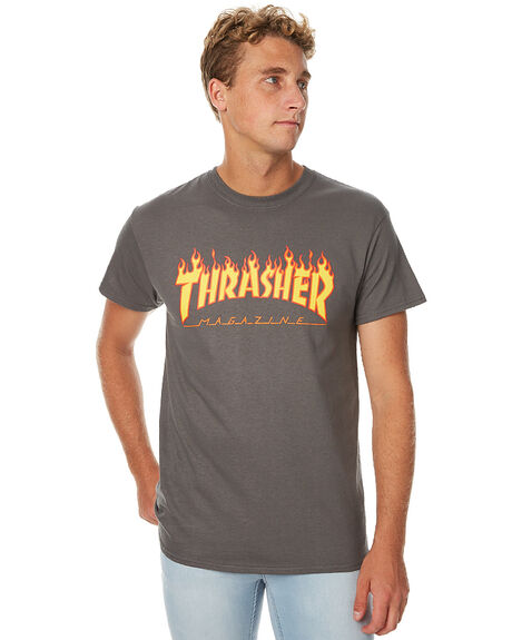 CHARCOAL MENS CLOTHING THRASHER TEES - 311019CHAR