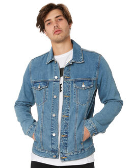 GENERATION BLUE MENS CLOTHING DR DENIM JACKETS - 1911133I09GNBLU
