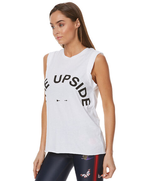 WHITE WOMENS CLOTHING THE UPSIDE SINGLETS - UPL1286WWHT