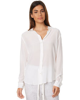 WHITE WOMENS CLOTHING ASSEMBLY FASHION TOPS - AW-W1717WHT