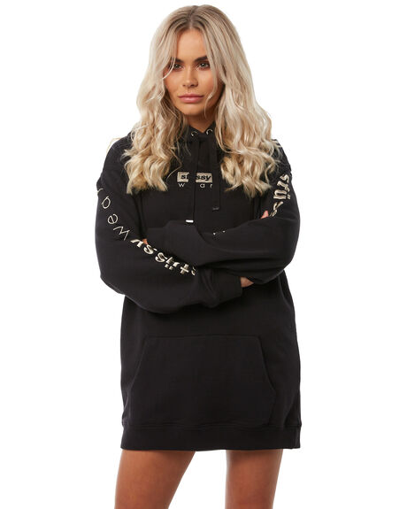 BLACK WOMENS CLOTHING STUSSY JUMPERS - ST181307BLK