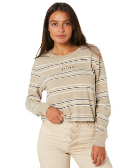 OXFORD TAN WOMENS CLOTHING THRILLS TEES - WTW20-175COXTAN