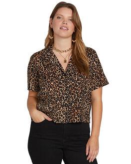 ANIMAL PRINT WOMENS CLOTHING VOLCOM FASHION TOPS - B0521900PANM