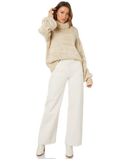 WHITE MIX WOMENS CLOTHING RUE STIIC KNITS + CARDIGANS - SW-20-K-07-WOW-MWHT