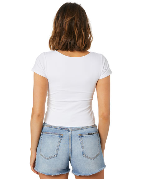 WHITE WOMENS CLOTHING SWELL TEES - S8221007WHT