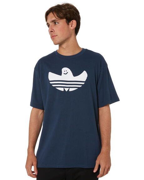 CREW NAVY WHITE MENS CLOTHING ADIDAS TEES - GL9955CNW