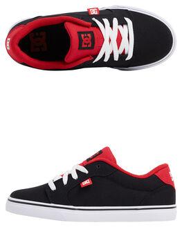 BLACK/ATHLETIC RED KIDS BOYS DC SHOES SNEAKERS - ADBS300296-BAT
