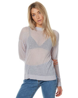 SOFT GREY OUTLET WOMENS THE HIDDEN WAY KNITS + CARDIGANS - H8172153SGREY