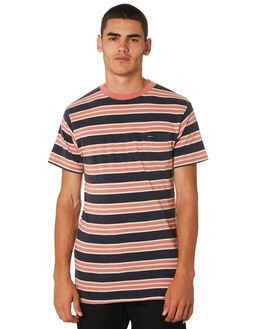 FEDERAL BLUE MENS CLOTHING RVCA TEES - R393041FDBLU