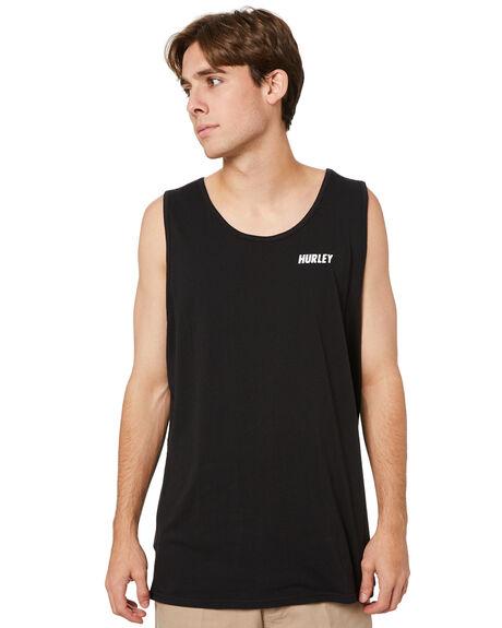 BLACK MENS CLOTHING HURLEY SINGLETS - HASI1010H010