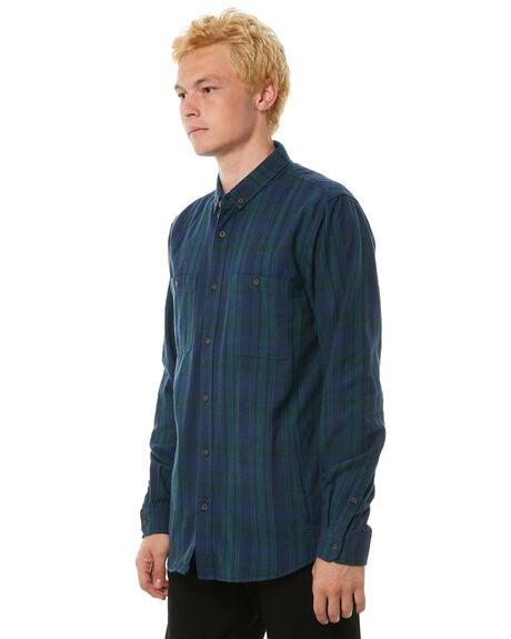 LODEN GREEN MENS CLOTHING BANKS SHIRTS - WLS0060LGR