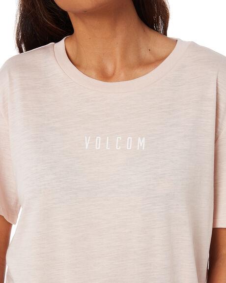 HAZY PINK WOMENS CLOTHING VOLCOM TEES - B3532075HZP