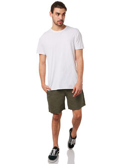 DUSTY OLIVE MENS CLOTHING AFENDS SHORTS - M183357DUSOLV