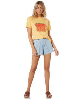 SOFT YELLOW WOMENS CLOTHING WRANGLER TEES - W-951605-MP3