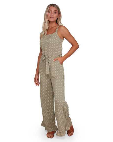 GREEN WOMENS CLOTHING BILLABONG PLAYSUITS + OVERALLS - BB-6503531-GRN