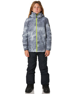 GREY SIMPLE TEXTURE BOARDSPORTS SNOW QUIKSILVER KIDS - EQBTJ03079KPG2