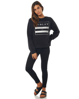 BLACK WOMENS CLOTHING HURLEY JUMPERS - AGFLNATN00A