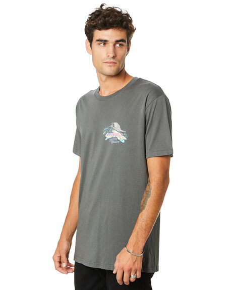 CHARCOAL MENS CLOTHING THE LOBSTER SHANTY TEES - LBSSHREDRTCHARC