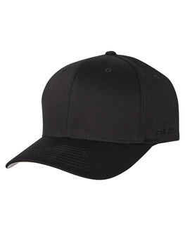 BLACK MENS ACCESSORIES FLEX FIT HEADWEAR - 162602-BLK