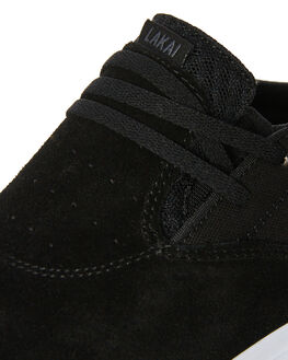 BLACK MENS FOOTWEAR LAKAI SKATE SHOES - MS2180091ABLK