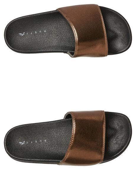 ROSE GOLD WOMENS FOOTWEAR RUSTY SLIDES - FOL0194RSG