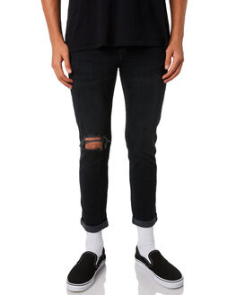 SLAYER BLACK MENS CLOTHING WRANGLER JEANS - W-901301-F02SLAY