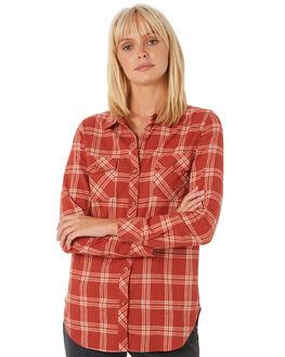 DARK CLAY WOMENS CLOTHING VOLCOM FASHION TOPS - B0531800DCL