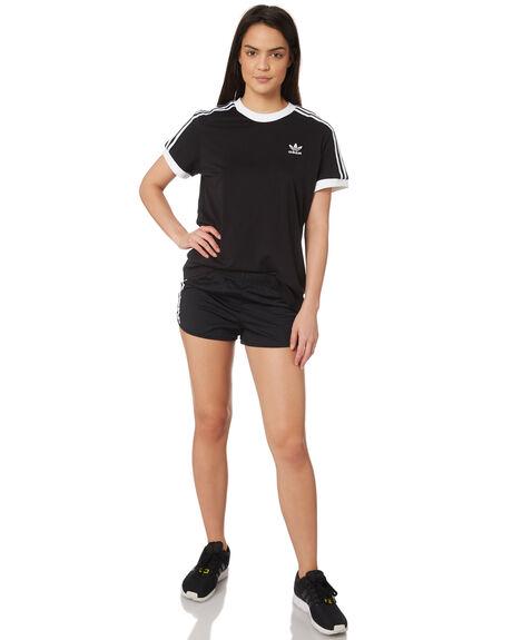 BLACK WOMENS CLOTHING ADIDAS SHORTS - DV2555BLK
