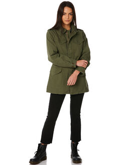 OLIVE WOMENS CLOTHING THRILLS JACKETS - WTW8-220FOLV