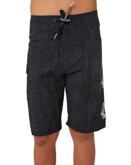BLACK KIDS BOYS VOLCOM BOARDSHORTS - C0841830BLK