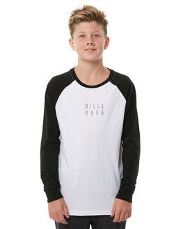 BLACK WHITE KIDS BOYS BILLABONG TEES - 8585185913