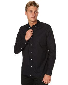 BLACK MENS CLOTHING OURCASTE SHIRTS - W1034BLK