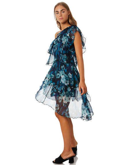 BLUE AMALFI FLORAL OUTLET WOMENS MLM LABEL DRESSES - MLM610CFLR