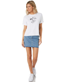 WHITE WOMENS CLOTHING ALL ABOUT EVE TEES - 6444071WHT