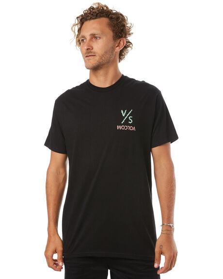 BLACK MENS CLOTHING VOLCOM TEES - A35417V2BLK