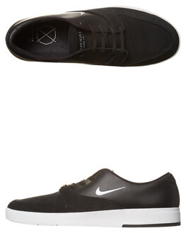 BLACK WHITE MENS FOOTWEAR NIKE SKATE SHOES - 918304-011