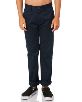 DARK NAVY KIDS BOYS VOLCOM PANTS - C1111601DNV