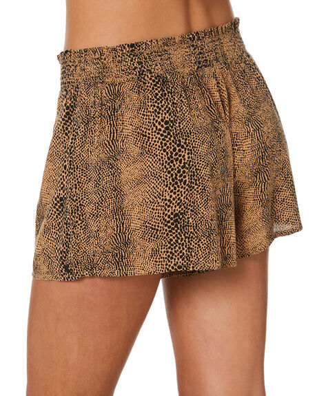 ANIMAL PRINT WOMENS CLOTHING VOLCOM SHORTS - B0922101ANM