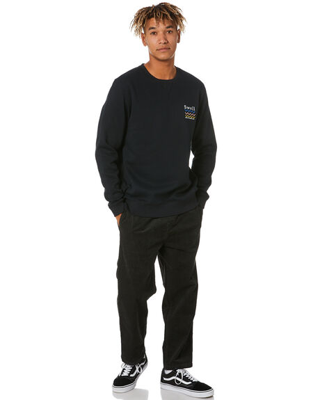 BLACK MENS CLOTHING SWELL JUMPERS - S5211440BLACK