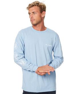 POWDER BLUE MENS CLOTHING POLAR SKATE CO. TEES - TFACESPBLU