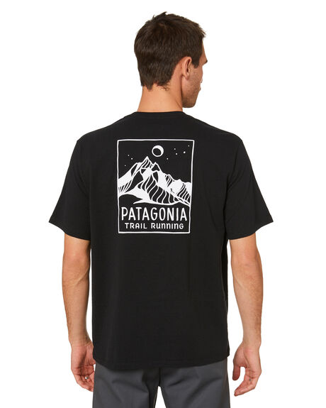BLACK MENS CLOTHING PATAGONIA TEES - 37405BLK