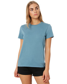 SANDY INDIGO WOMENS CLOTHING VOLCOM TEES - B3541876SDI